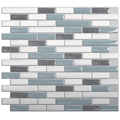 "Mosaik 9.1"" x 10.2"" Mosaic Tile in Gray & Blue Product Photo"