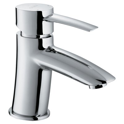 Single Hole Bathroom Faucet with Single Handle in Chrome Product Photo