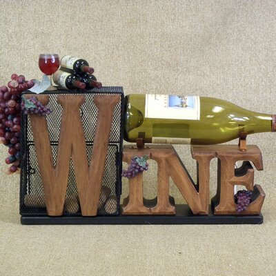Classic Home 1 Bottle Tabletop Cork Cage Wine Rack by Karen Didion