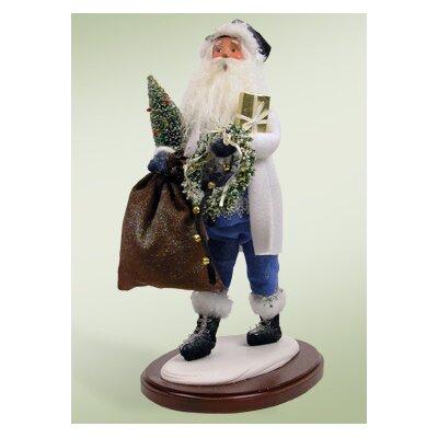 Byers' Choice Walking in a Winter Wonderland Santa Figurine