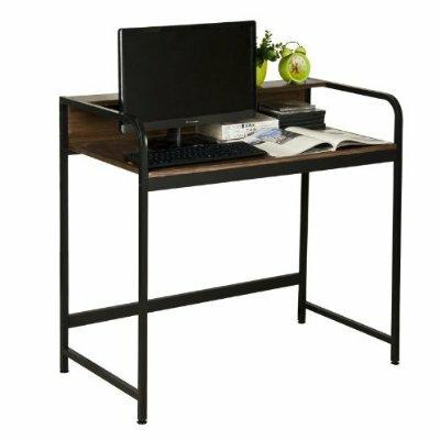 furinno boyate writing desk with top shelf reviews wayfair. Black Bedroom Furniture Sets. Home Design Ideas