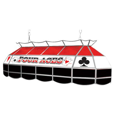 Four Aces 3 Light Pool Table Light by Trademark Global
