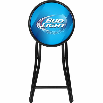 bud light 18 bar stool with cushion by trademark global. Black Bedroom Furniture Sets. Home Design Ideas