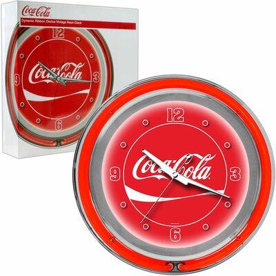 "Trademark Global Coca Cola 14.5"" Wall Clock"