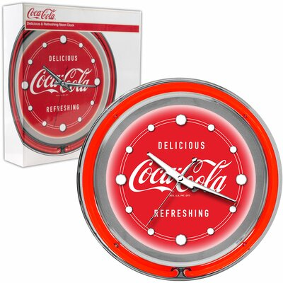 Coca Cola Deluxe Neon Clock by Trademark Global