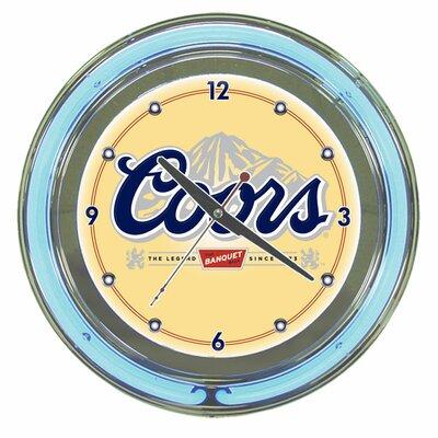 "Trademark Global 14"" Coors Neon Wall Clock"