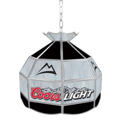 Coors Light Stained Glass Tiffany Lamp by Trademark Global