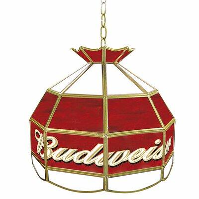 """Trademark Global Budweiser 16"""" Tiffany Light Fixture"""