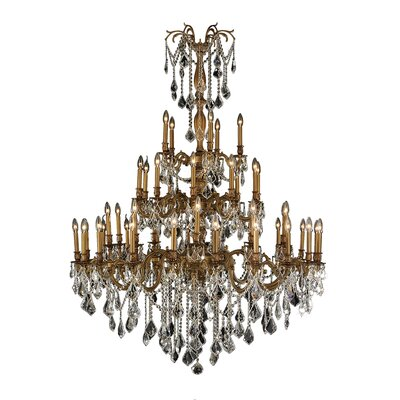 Windsor 45 Light Crystal Chandelier by Worldwide Lighting