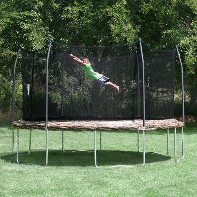 Camo 15' Round Trampoline and Enclosure Product Photo