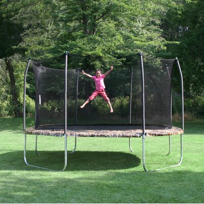 Camo 14' Square Trampoline and Enclosure Product Photo