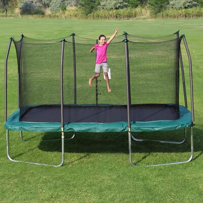 Summit 14' Rectangle Trampoline with Safety Enclosure Product Photo