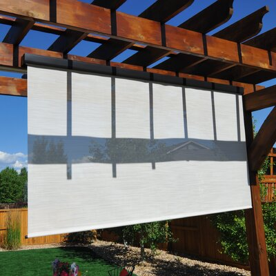 Titanium Plus Pole Operated Exterior Solar Shade Product Photo