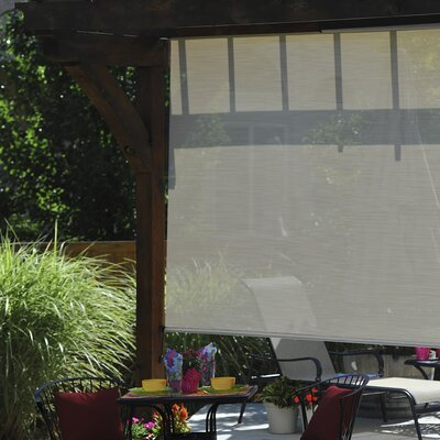 Diamond Plus Cord Operated Exterior Solar Roll-Up Shade Product Photo