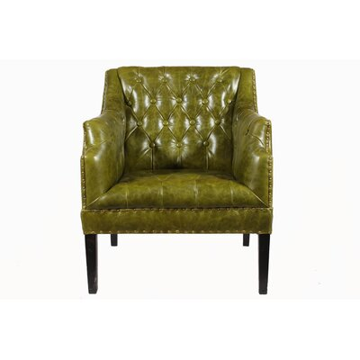 Draper Leather Club Chair by Decorative Leather Books, LLC