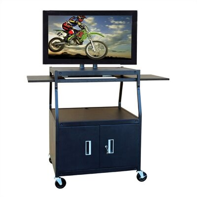 Buhl Wide Body Flat Panel AV Cart with Locking Cabinet