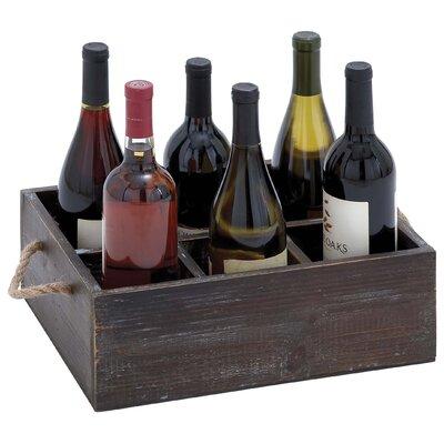 6 Bottle Wine Tray by Woodland Imports