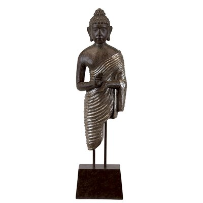 Radiant Buddha Statue On Stand by Woodland Imports