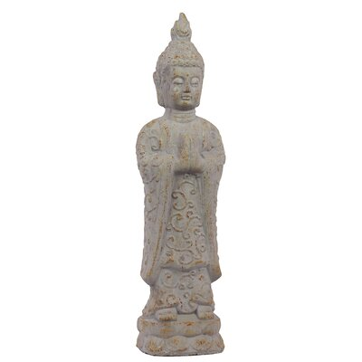 Antique and Innovative Cement Standing Buddha Statue by Woodland Imports