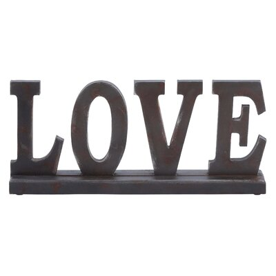 "Woodland Imports Table Top ""Love"" Statue"