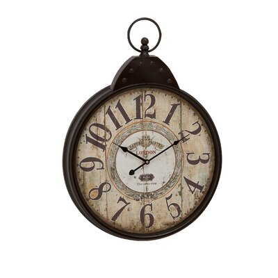 woodland imports 28 quot oversized fascinating styled berlin metal wall clock reviews wayfair