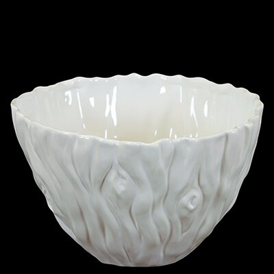 Woodland Imports Elegant and Beautiful Ceramic Serving Bowl