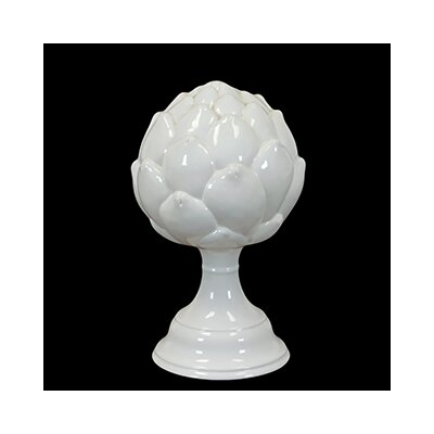 Decorative Elegant and Beautiful Ceramic Artichoke on Stand Sculpture by Woodland Imports