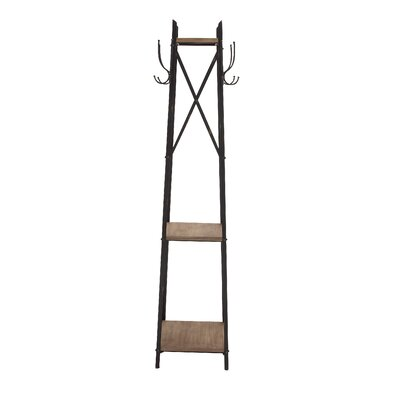 Stylish Durable Constructed Metal Wood Coat Rack by Woodland Imports