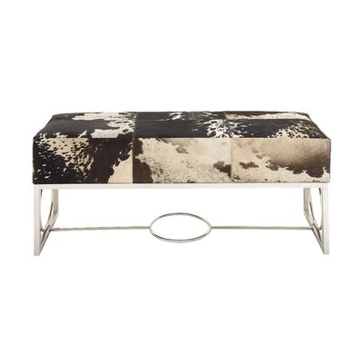 Classy Leather Entryway Bench by Woodland Imports