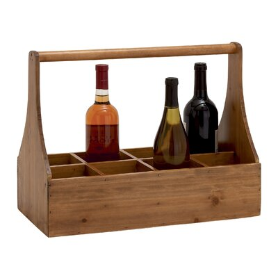 Unique Styled Attractive 8 Bottle Tabletop Wine Rack by Woodland Imports