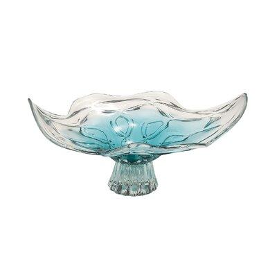 Glass Pedestal Decorative Bowl by Woodland Imports