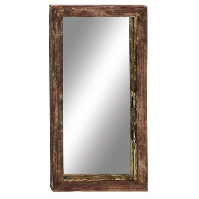Antique Like Wood Teak Wall Mirror by Woodland Imports