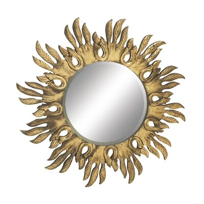 Shimmering Carved Wall Mirror by Woodland Imports