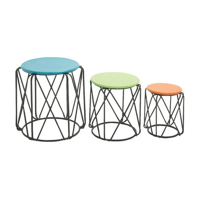 Fascinating 3 Piece Nesting Tables by Woodland Imports