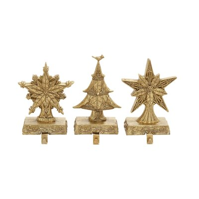 3 Piece Outstanding Stocking Holder Set by Woodland Imports
