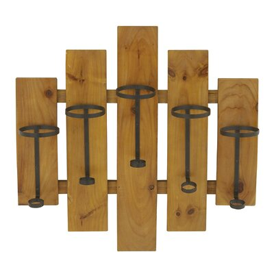 5 Bottle Wall Mounted Wine Rack by Woodland Imports