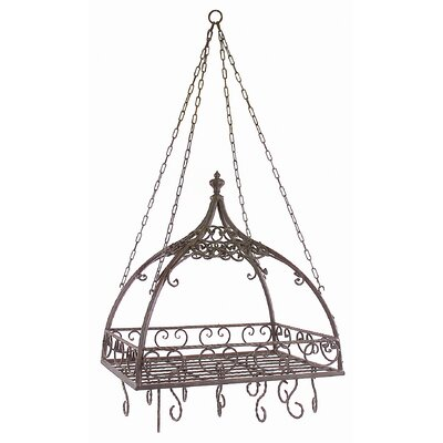 Domed Pot Rack with Hooks by Woodland Imports