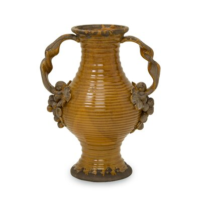 Italia Vase with Handles by Woodland Imports