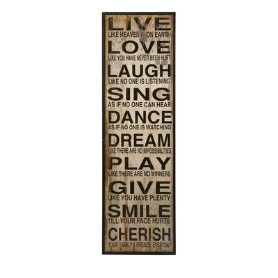 Live Love Laugh Textual Art by Woodland Imports