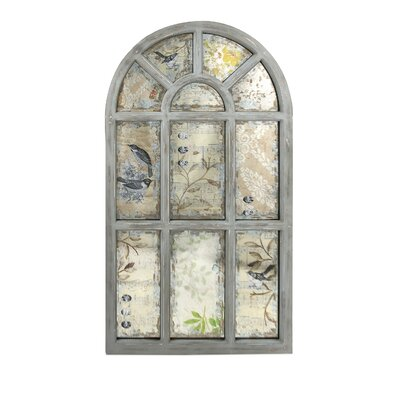 Ella Elaine Antiqued Wall Mirror by Woodland Imports