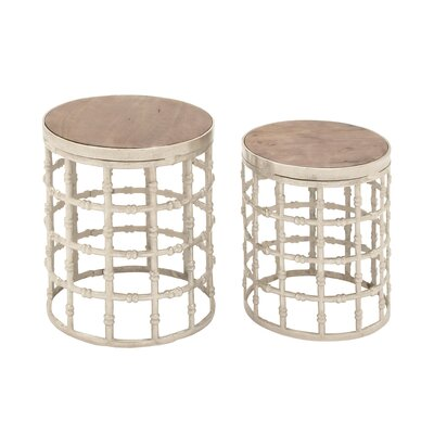 2 Piece Nesting Tables by Woodland Imports