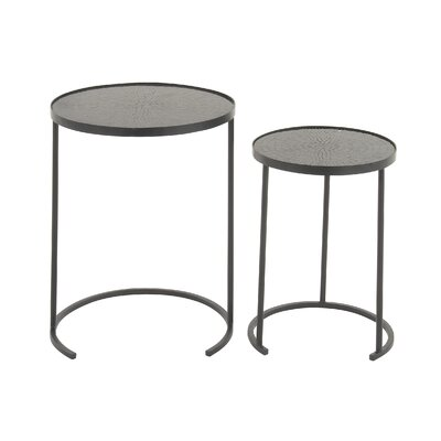 Stylish 2 Piece Nesting Tables by Woodland Imports