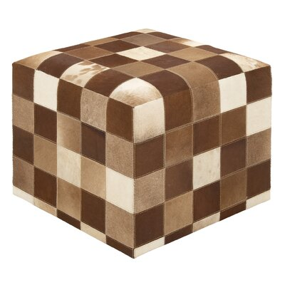 Timeless and Beautiful Leather Ottoman by Woodland Imports