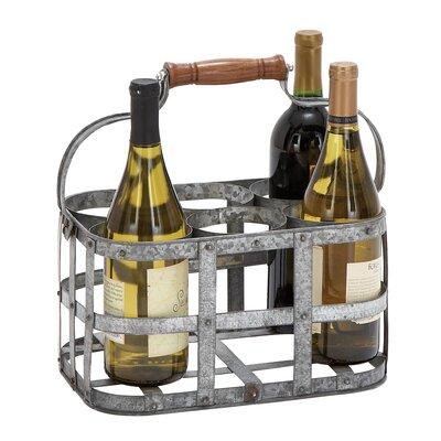 Woodland Imports 6 Bottle Metal Tabletop Wine Rack