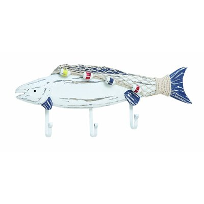Wooden Fish Coat Hook by Woodland Imports