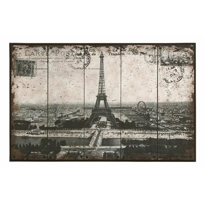 Paris Eiffel Tower Painting Print by Woodland Imports