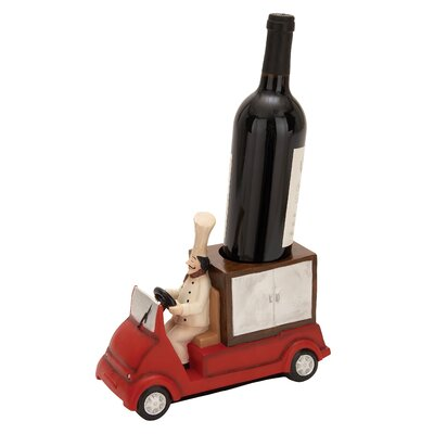 Woodland Imports Polystone Chef Truck 1 Bottle Tabletop Wine Rack