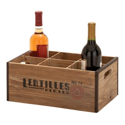 6 Bottle Tabletop Wine Rack by Woodland Imports