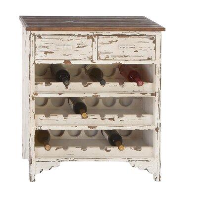 Woodland Imports Classic Wood 2 Drawer Wine Cabinet