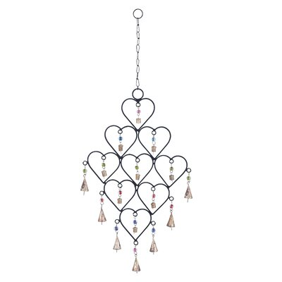 Metal Heart Wind Chime by Woodland Imports